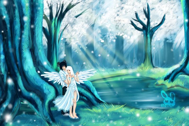 Любовь ангел демон сакура
