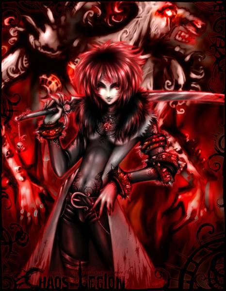 Парень воин демон кровь