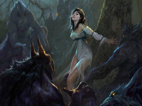 Девушка оборотень монстр смерть замок